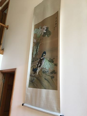Large Asian Scroll Art