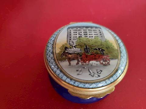 HALCYON DAYS BERGDORF-GOODMAN TRINKET BOX