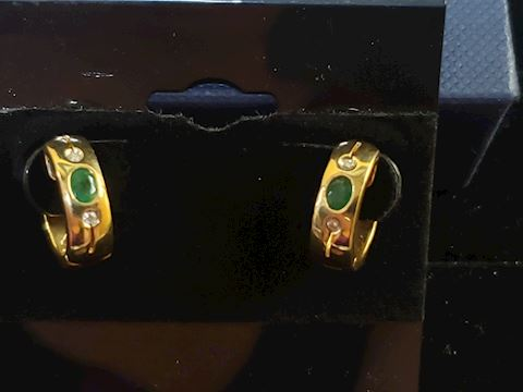 18k Gold with Emeralds and Diamonds