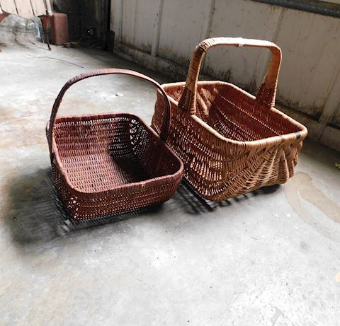 032 TWO Wicker Baskets
