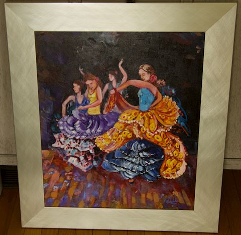 Painting of Spanish Dancers