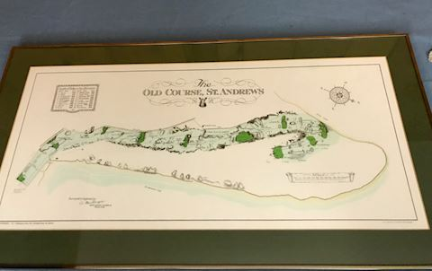 The old course, St. Andrews framed print