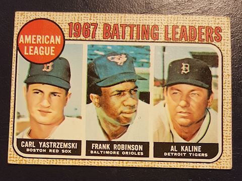 1967 Batting Leaders Baseball Card #2