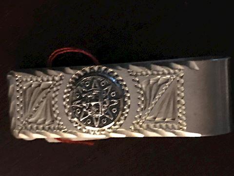 Sterling Silver Aztec Sun Money Clip