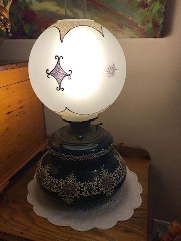 Weller Pottery Cobalt Blue Lamp RARE