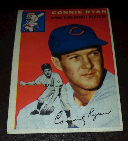 1954 Connie Ryan Redlegs Baseball Card #136