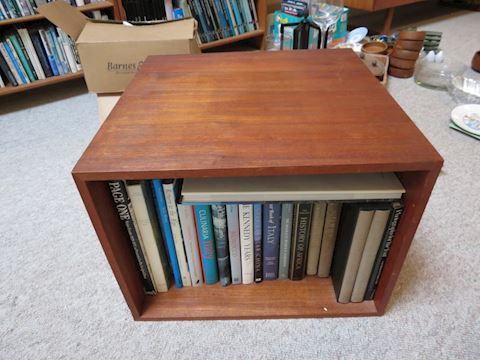 Mid Century Teak Open Box Style Side Table