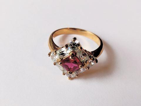Sterling Silver Ring Rhodolite Gemstone