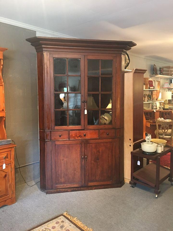 Antique Corner Cupboard - Antique Corner Cupboard - 12/3 $1800.00 EstateSales.NET