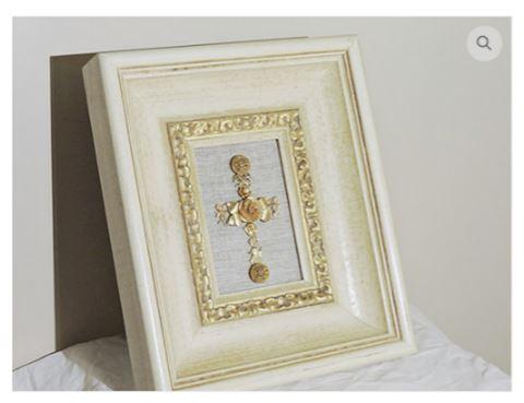 GOLD Cross w/ Frame VINTAGE