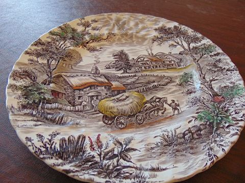 Yorkshire Ironstone Plates, Includes two total