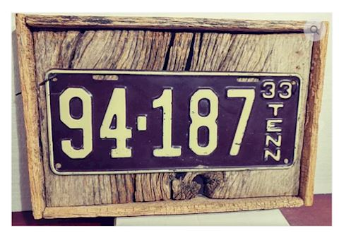 Antique 1933 Tennessee License Plate