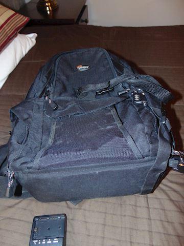 Camera bag as a backpack