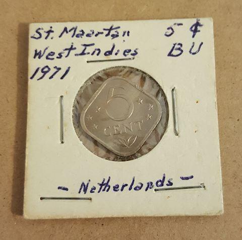 Old 1971 BU Netherlands Coin