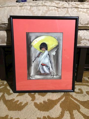 Liv.  571.  Person w/ Umbrella