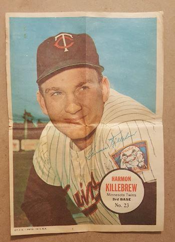 Old 1967 Harmon Killebrew Topps Poster Insert #23