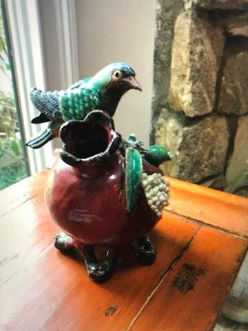 Ceramic Bird and pomegranate