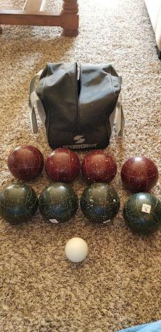 Vintage Italian made Bocce ball set