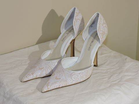 Dress Pump Shoes White Size 6 Women Bandolino