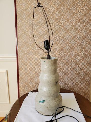 Handmade Abstract pottery lamp