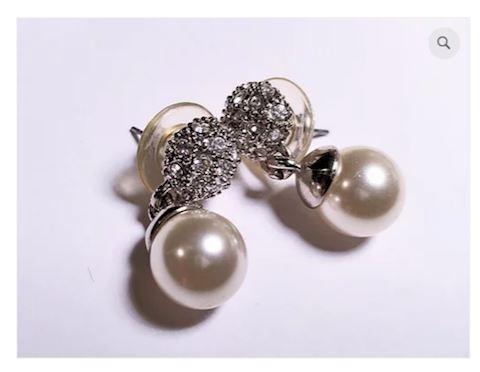 Vintage Pearl Earrings Sterling Silver