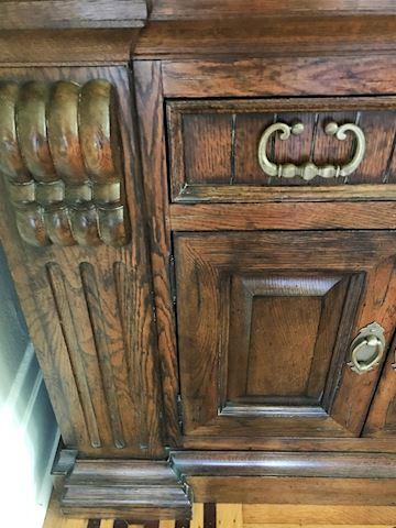 Gorgeous Antique Large China Cabinet