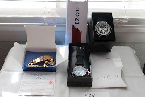 #011 New Lot Men's 2 Watches-1 Medic Bracelet