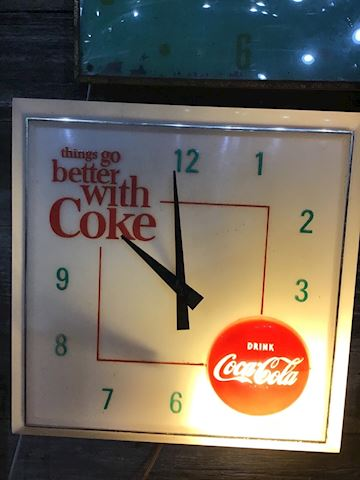 1960s Vintage Coke Cola clock Hanover Model Lot 60