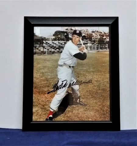 Autographed picture of Ted Williams