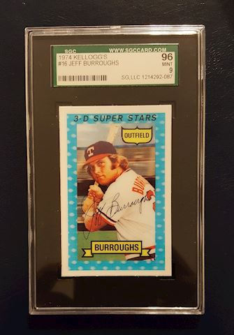 Graded 1974 Kelloggs Jeff Burroughs Baseball Card
