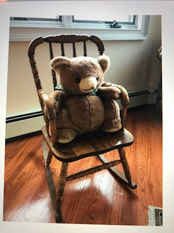 Children's Rocking Chair with Brown Bear