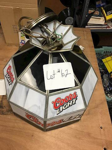 Vintage Coors light Slagg glass globe/light Lot 62