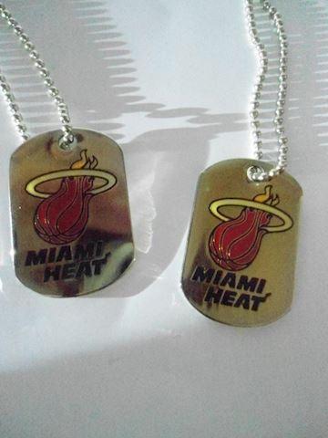 Miami Heat Dog Tags