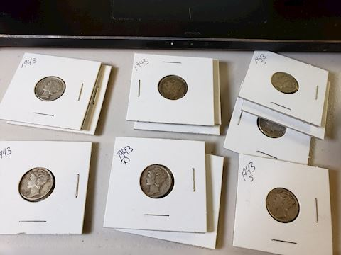 12-1943 Silver Mercury Dimes
