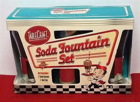 Vintage Soda Fountain Set