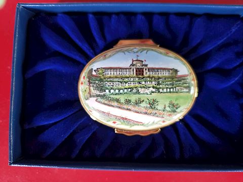 HALCYON DAYS HUNTINGTON HOTEL PASADENA TRINKET BOX