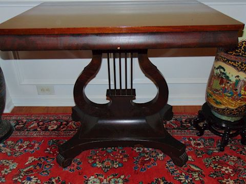 Lyre Hall Table