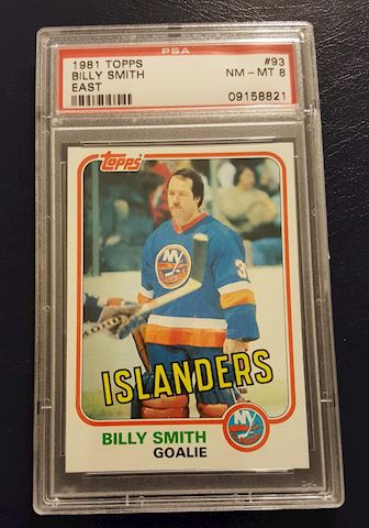 Graded 1981 Billy Smith Islanders Hockey Card