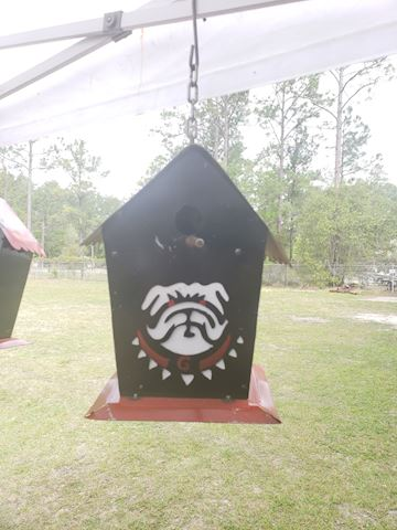 Georgia bulldogs birdhouse