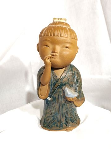 Antique Handmade Japanese Statue