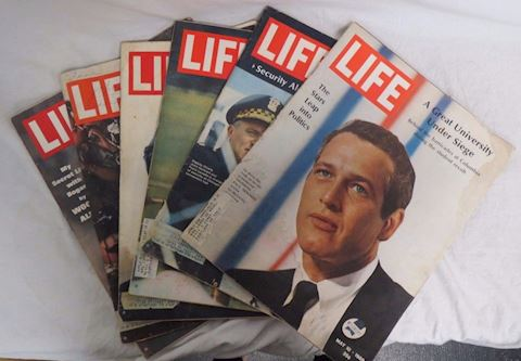 Lot of 6 Life Magazines 1964 Through 1969 Issues