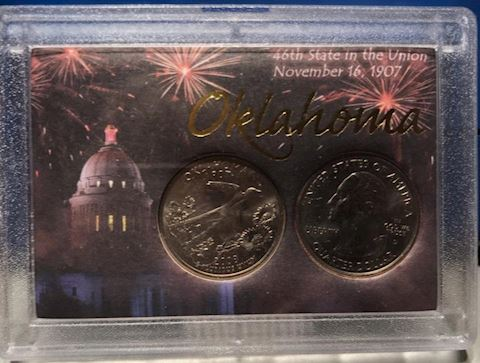 46th State of the Union Oklahoma Quarter Set