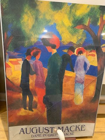 August Macke, Woman in a Green Jacket, Poster