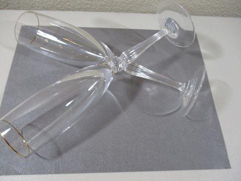 """Vintage  Waterford Goblets  Signed 91/2"""" 2 glasses"""