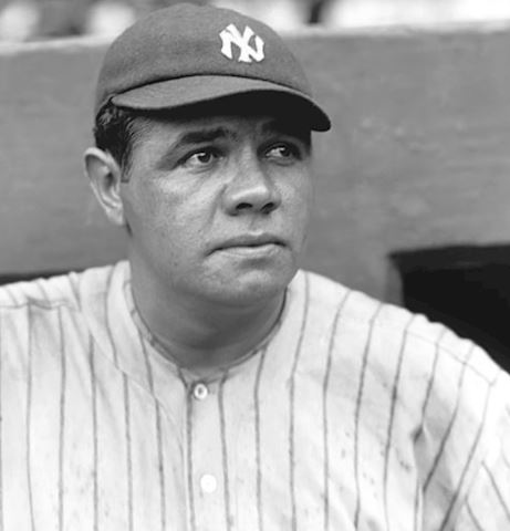 Collection of 50 Babe Ruth Baseball Cards