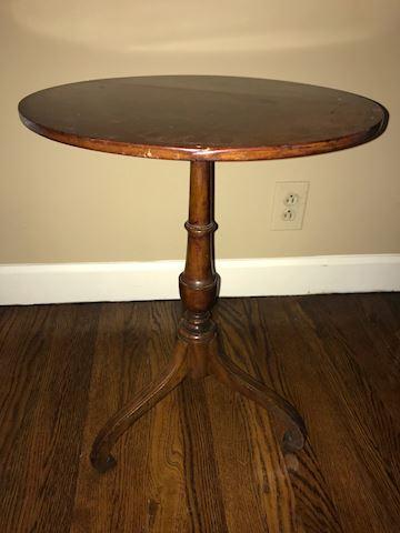 Small Round Antique Mahogany Table