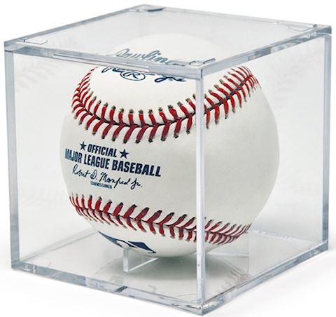 12 Grandstand Baseball Display Cases with Cradle