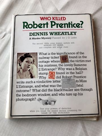 Murder Mystery book, activity Robert Prentice