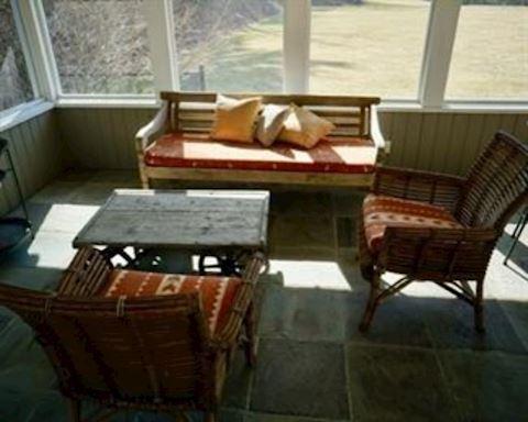 4 Piece Patio Wood Set