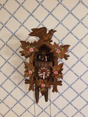 Hand Painted Folk Art Black Forest Cuckoo Clock